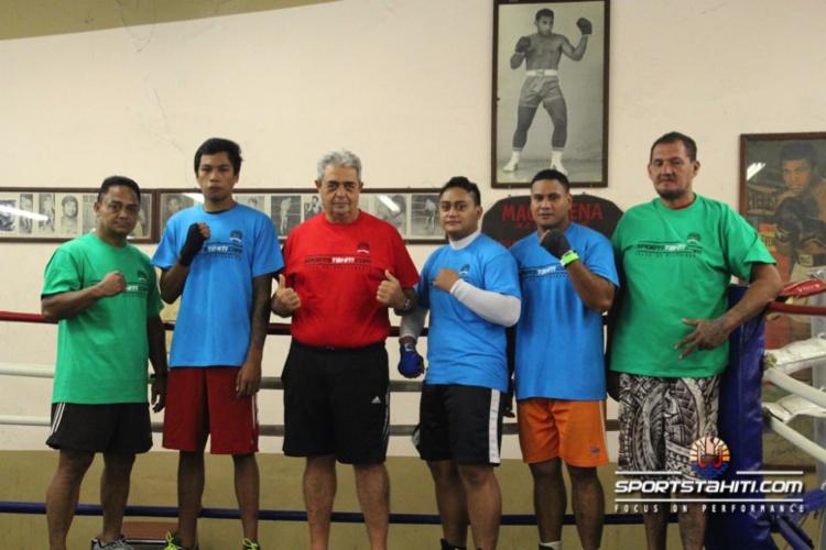 La team Tahiti avant le départ