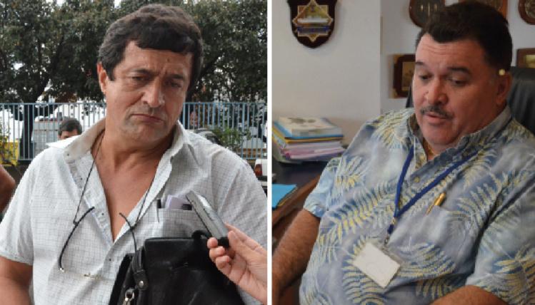 Patrick Galenon, secrétaire général du syndicat CSTP-FO et Mario Banner, ancien directeur général du Port autonome.