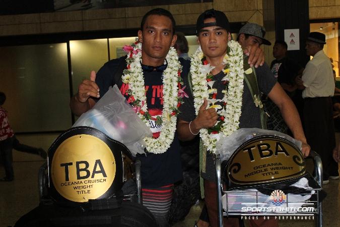 Boxe Thaï : Aito Lenoir et Eddy Bellais décrochent leurs ceintures