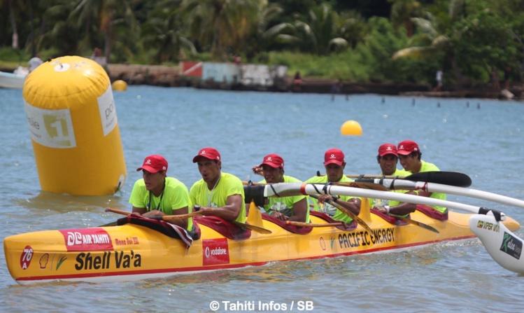 Shell Va'a, qui a gagné la 1e course de la saison, obtient cette fois-ci une belle 2e place