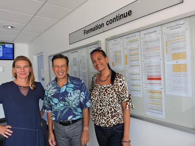 Mélanie Bontant, gestionnaire de formations, Jean-Claude Lecuelle, directeur du service de la Formation continue et Mehani Desclaux, gestionnaire de formations (de gauche à droite).