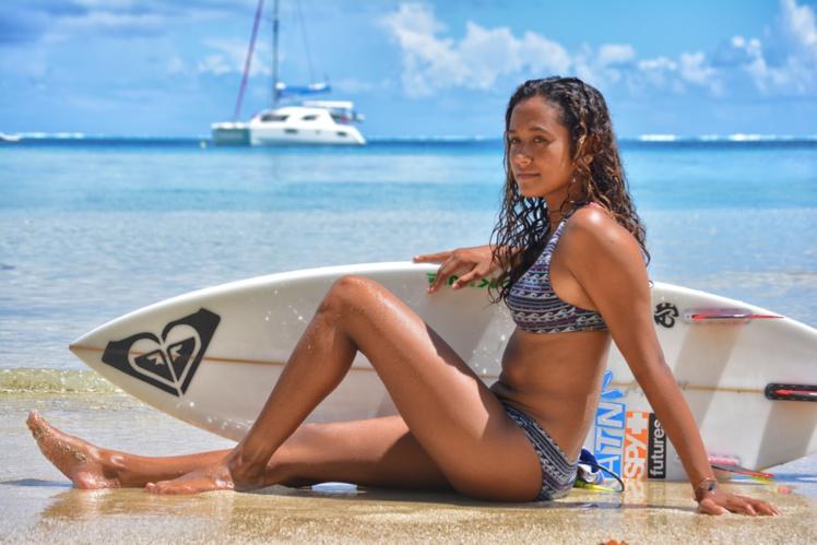 Vahine est issue de Huahine, une île connue pour ses belles vagues