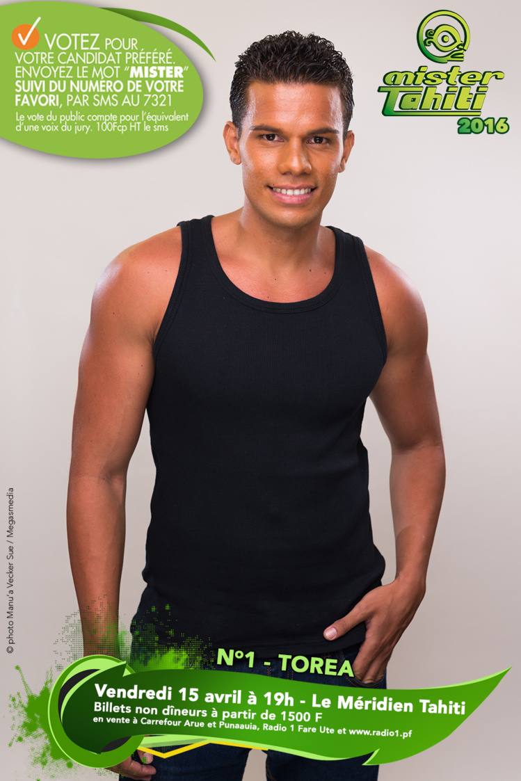 Mister Tahiti 2016 : les candidats n°1 et n°2