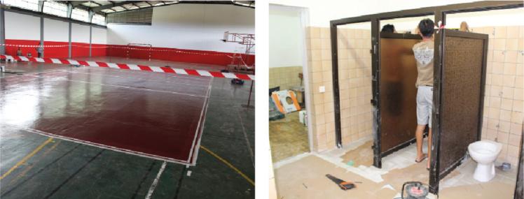 Pour ce tournoi, la salle omnisports de Nuutafaratea a entièrement été refaite ainsi que les sanitaires
