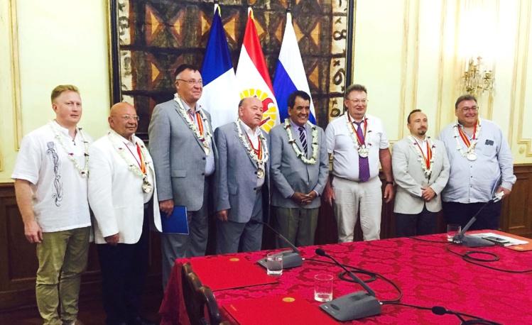 Des représentants de la ville de Saint-Pétersbourg sont en visite en Polynésie française.