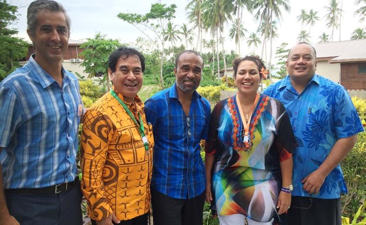 Une délégation polynésienne à la réunion sur le réchauffement climatique d'Apia