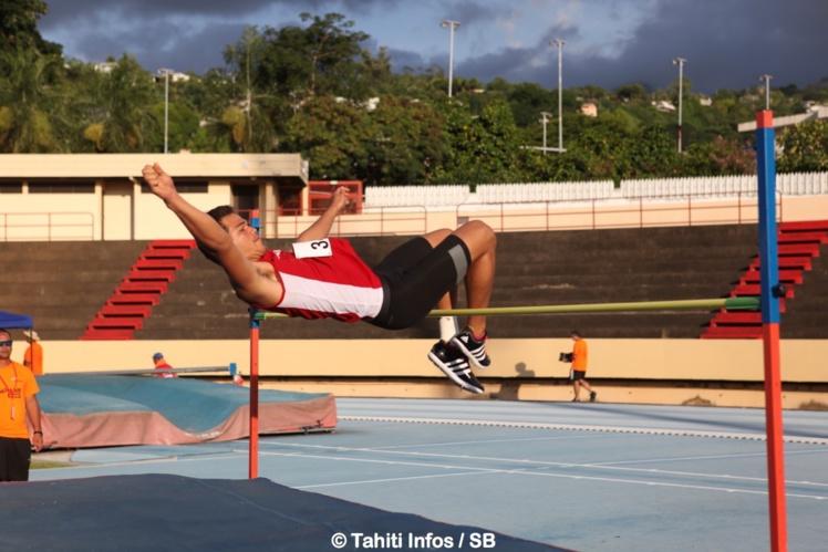Teura Tupaia, 3e en saut en hauteur
