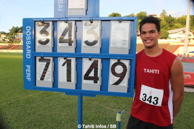 Teura Tupaia devant son nouveau record
