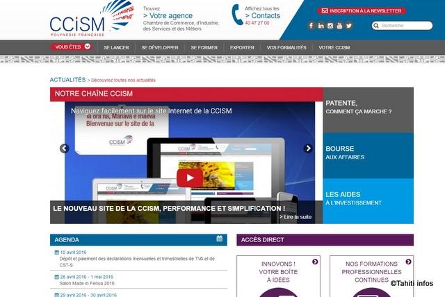La ccism lance un nouveau site web domtomnews for Chambre de commerce guadeloupe