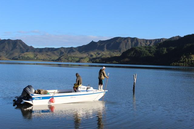 Pêche à Rapa.  Crédit : Jérôme Petit