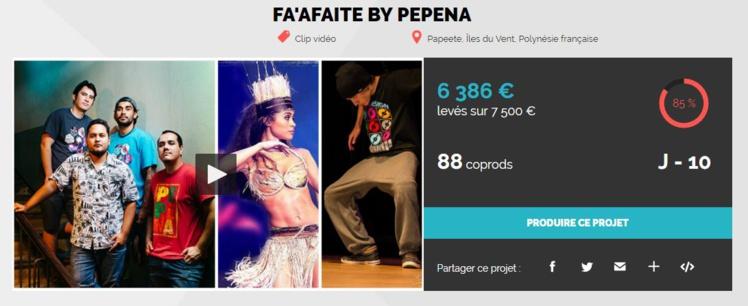 Le groupe Pepena veut tourner un clip adapté aux audiences internationales et fait appel à ses fans pour le financer.