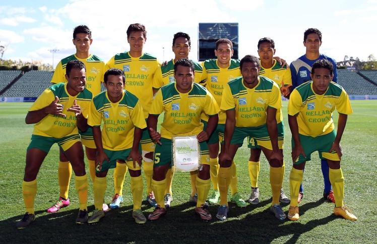 L'équipe de Tefana sans Angelo Tchen et Nicolas Vallar, suspendus