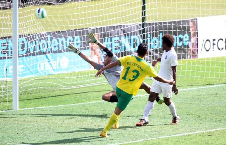 Stanley Atani a marqué le 5e but pour Tefana contre Samoa