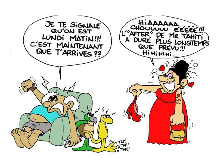 """L'after Mister Tahiti"" vu par Munoz"