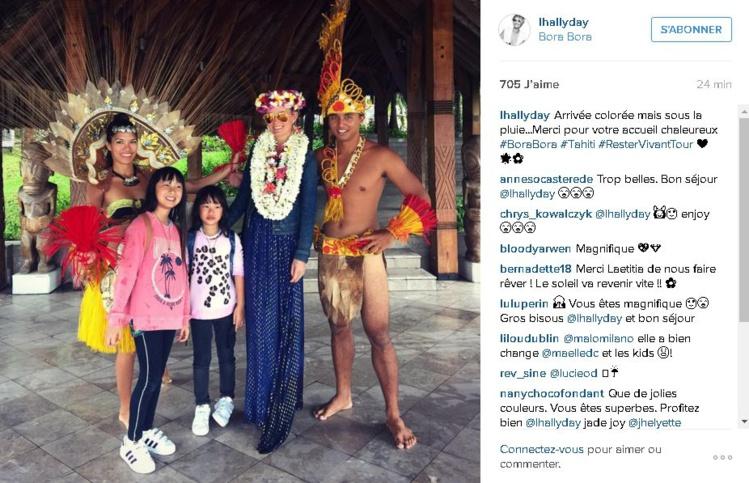 Postée ce mercredi matin sur le compte Instagram de Laeticia Hallyday depuis Bora Bora