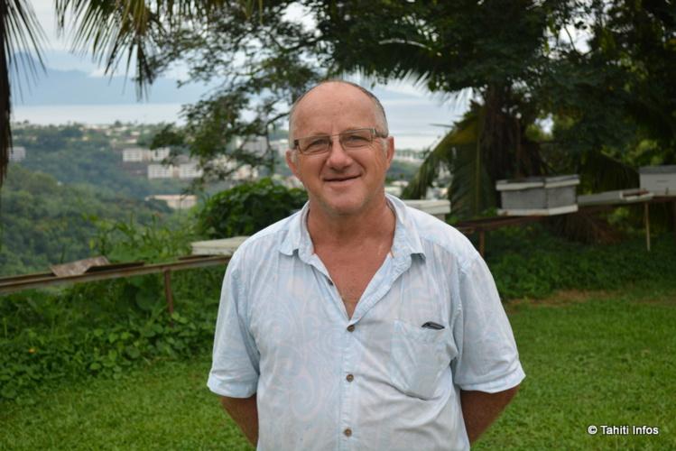 Stéphane Brouttier, président de l'Association Syndicale des Collines de Tipaerui (Pic Rouge)