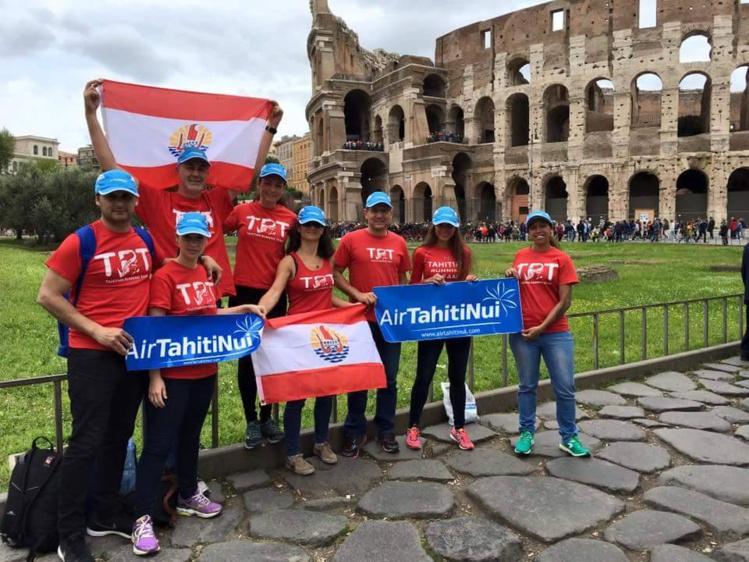 Marathon : Des tahitiens au Colisée