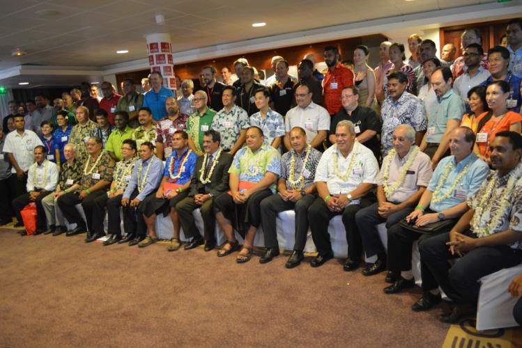 La photo de famille avec tout ce que le Pacifique compte d'opérateurs, fournisseurs d'accès à Internet ou ministres des télécommunications.