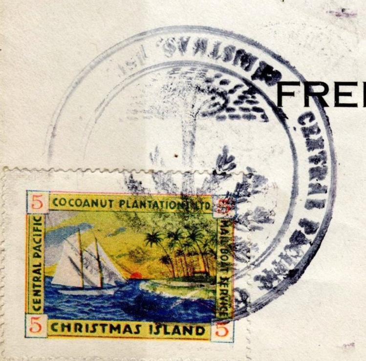Gros plan sur un des timbres émis par Rougier : les collectionneurs s'arrachèrent ces vignettes et les bénéfices tombèrent dans l'escarcelle du prêtre.