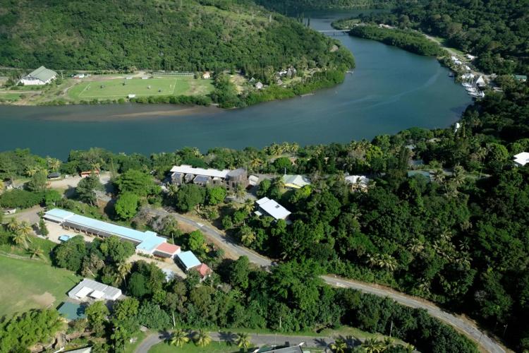 Vue aérienne de Hienghene. Photo : AFP
