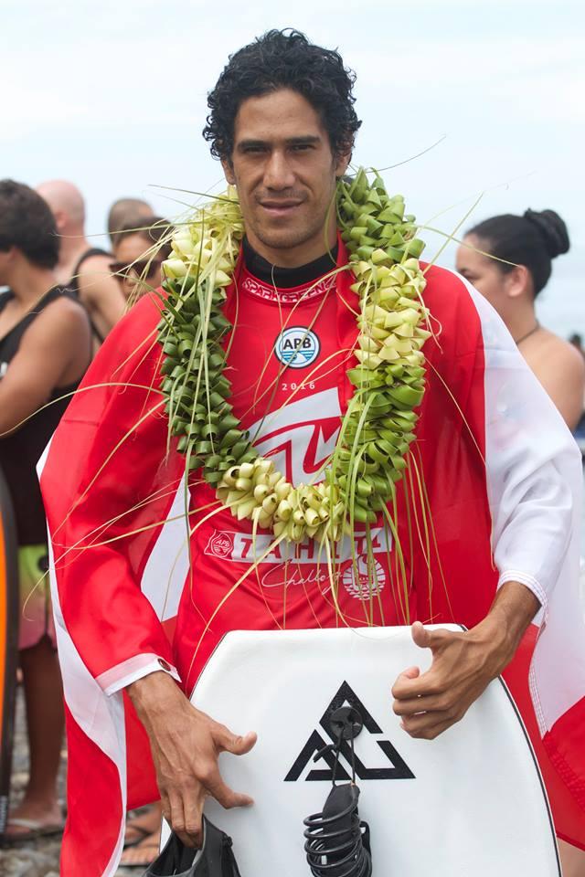 Cédric Estall, 2e du Sparkgreen Tahiti Challenge 2016 © Hugo Tauru Photography