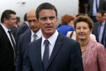 Manuel Valls à son arrivée en Nouvelle-Zélande.