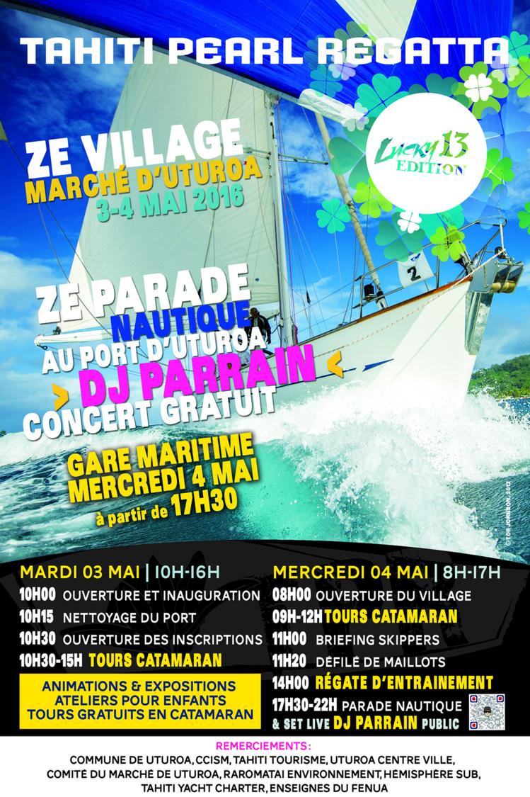 Tahiti Pearl Regatta : un village et une parade pour célébrer la voile à Uturoa