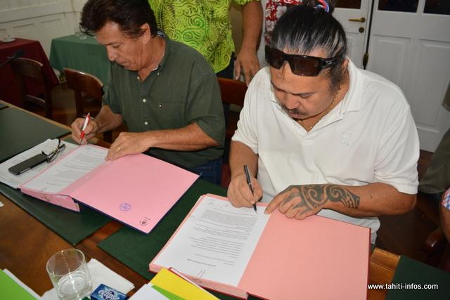 Le protocole d'accord a été signé après 21 heures, ce samedi soir