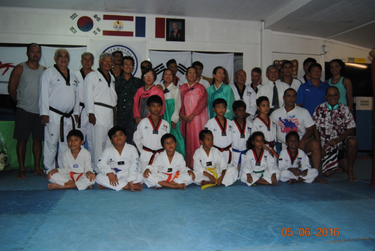 Commémoration de l'anniversaire de Maître Young Bo Chang, Pioneer du Taekwondo à Tahiti