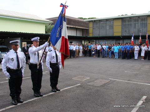 Hommage national aux policiers morts pour la France, ce matin à la DSP