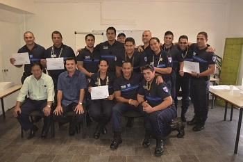 14 nouveaux agents de police municipale, toute la promotion a réussi la formation.