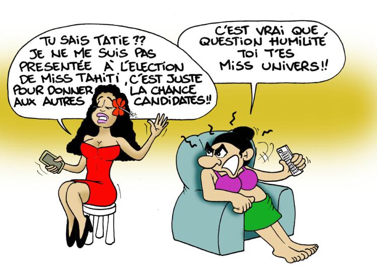 """""""Les Miss Tahiti"""" par Munoz"""