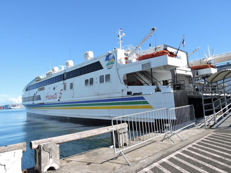 Le Aremiti 5 assure la navette entre Tahiti et Moorea depuis 12 ans.