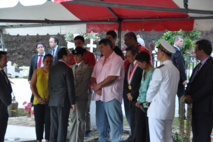 Lors de la visite de François Hollande sur la tombe de Puvana'a Oopa