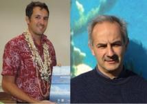 Jérôme Petit (directeur de la fondation Pew en Polynésie) et Philippe Cary (directeur de recherche à l'IRD) défendent l'utilité pour la Polynésie des aires marines protégées.