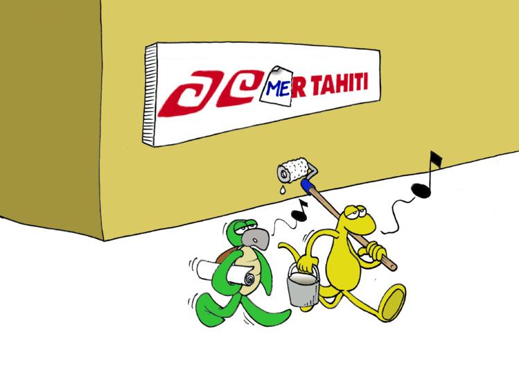 """Air Tahiti en cata"" par Munoz"