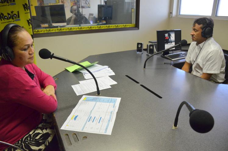 Valentina Cross et Nuihau Laurey, le 26 avril dernier sur le plateau de l'émission radiophonique A vous la parole.