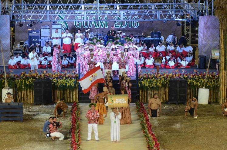 Une cinquantaine de personnes compose la délégation polynésienne.
