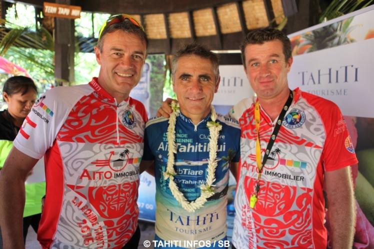 Jean-Michel Monot, (X-Terra), Laurent Jalabert et Benoît Rivals (ronde tahitienne)