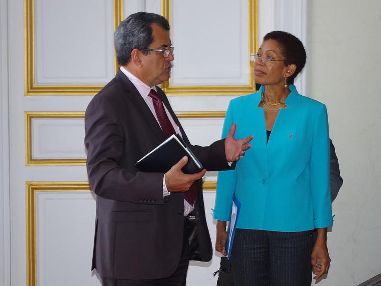 A l'issue de son entretien avec George Pau-Langevin, la délégation polynésienne a été reçue par la secrétaire d'Etat à l'égalité réelle.