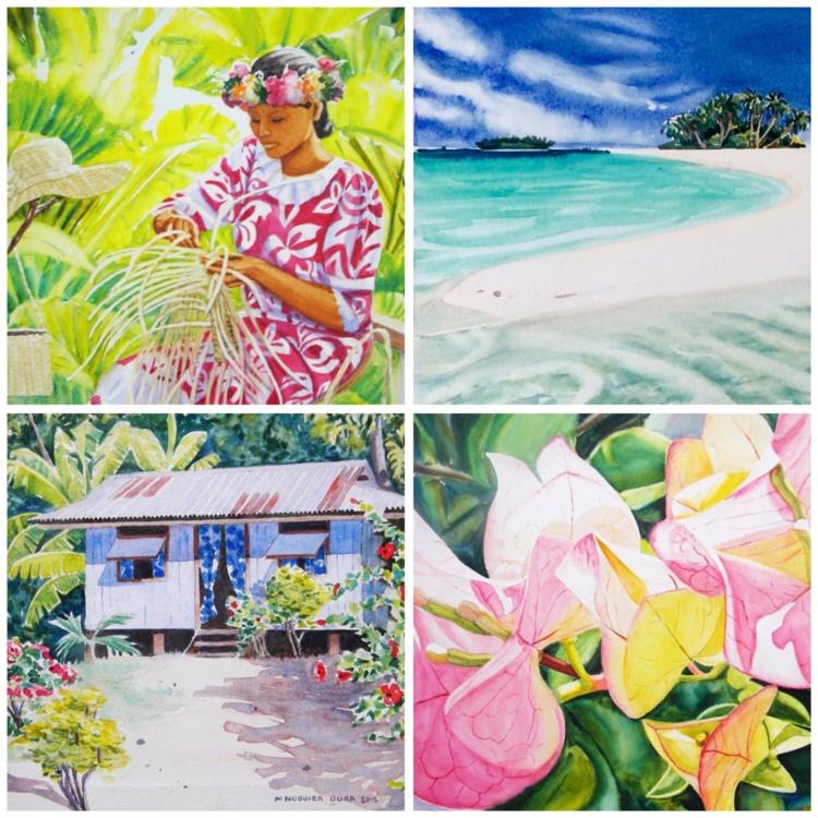 """""""La qualité de vie locale et la beauté des paysages"""" ont inspiré l'artiste qui réside à Moorea."""