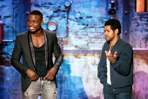 Charly Nyobe & Jamel Debbouze.