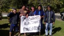 Ici, les grévistes de Rurutu