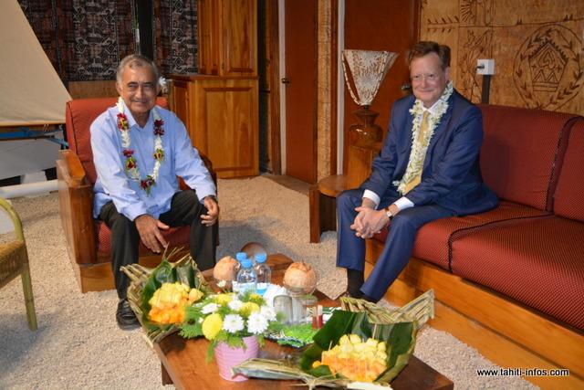 Oscar Temaru a reçu le nouveau haut-commissaire ce mardi soir
