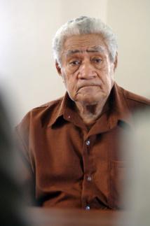Photo prise le 12 novembre 2008 à Matâ'utu à Wallis et Futuna de l'ancien Lavelua (roi coutumier) Kappeliele Faupala (illustration).