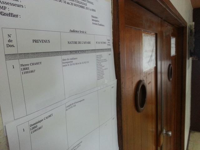 """Les péripéties procédurales du dossier d'escroquerie présumée, dit """"affaire Chanut"""", seront bientôt réglées."""