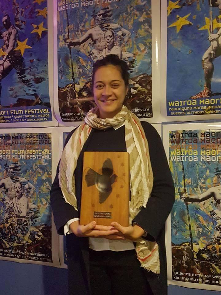 Tiairani Drollet-Le Caill, la productrice déléguée du film, ravie de cette belle promotion pour le fenua. (Photo : DR)