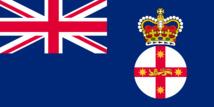 Le drapeau de la Nouvelle-Galles du Sud, lorsque Bligh en fut le gouverneur.