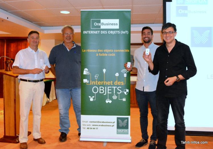 L'équipe de direction de Viti : Bernard Foray (directeur général), Mario Nouveau (président), Heiva Meurisse (responsable commercial grands comptes) et Raymond Colombier (directeur commercial).
