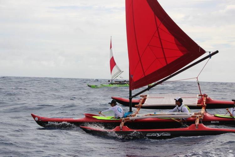 Manu Iva, avec Steeve Teihotaata à son bord, a remporté la 3e régate du championnat